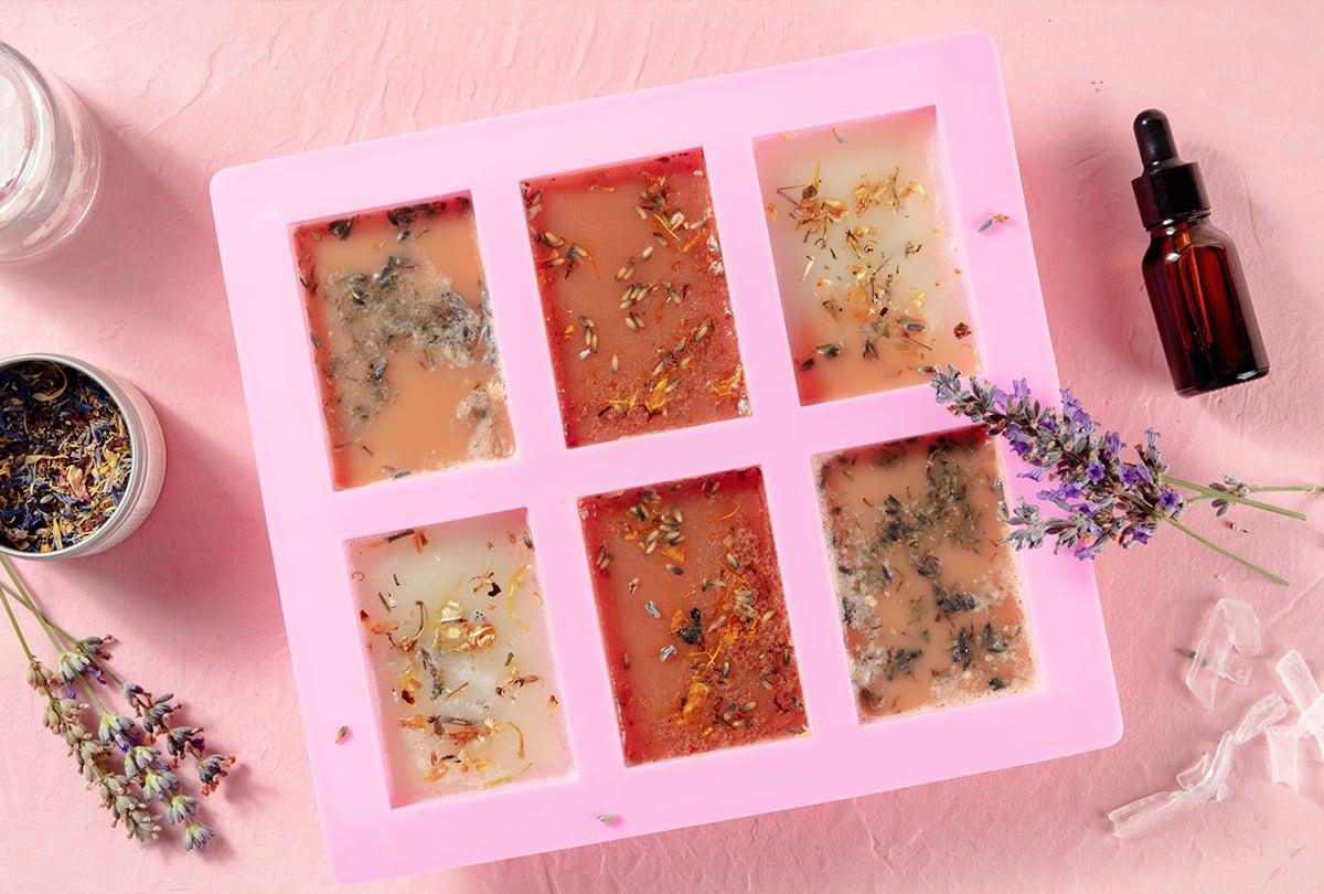 Silikonform Lavendel Seifelö